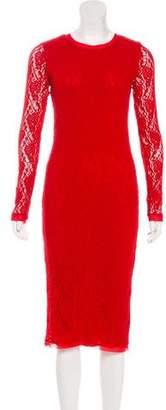 Fuzzi Lace Midi Dress