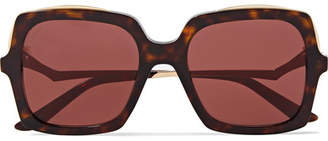 Cartier Eyewear - Square-frame Tortoiseshell Acetate And Gold-tone Sunglasses - one size