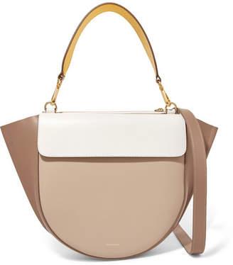 Hortensia Wandler Medium Color-block Leather Shoulder Bag - White