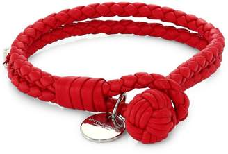 Bottega Veneta Leather Knot Logo Bracelet
