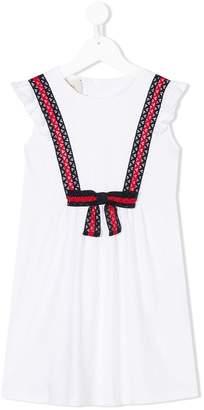 Gucci Kids ruffle sleeve dress with Web