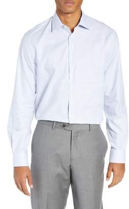 John Varvatos Regular Fit Plaid Dress Shirt