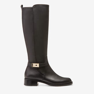 Bally Ingrid Black, Women's calf leather long boot with 30mm heel in black