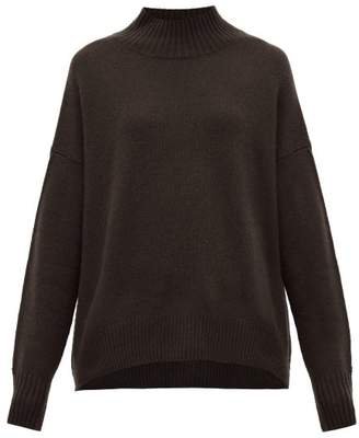 Allude High Neck Cashmere Sweater - Womens - Brown