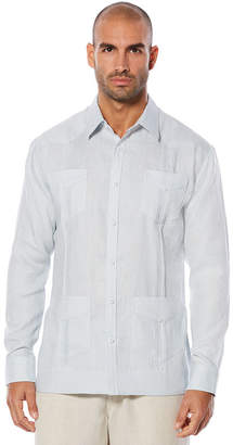 Cubavera 100% Linen Long Sleeve 4 Pocket Guayabera