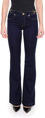MICHAEL Michael Kors Side Buckle Flare Jeans