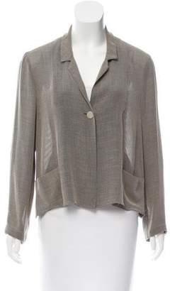 Chanel Woven Notch-Lapel Jacket