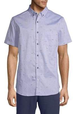 Sovereign Code Crystal Cove Cotton Button-Down Shirt