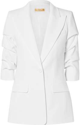 Michael Kors Ruched Crepe Blazer - White