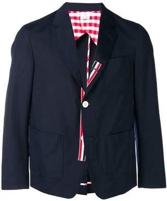 Thom Browne Unconstructed patch pocket blazer