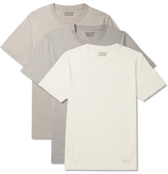 Wacko Maria Three-Pack Cotton-Jersey T-Shirts - Men - White