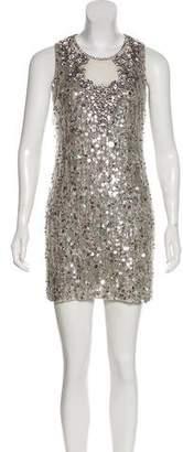 Jenny Packham Embellished Mini Dress