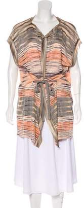 Missoni Patterned Short Sleeve Knit Cardigan