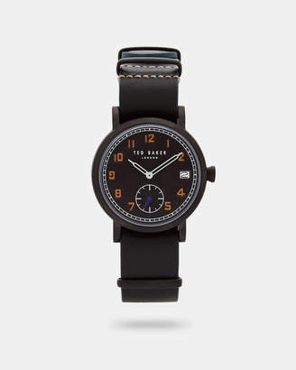 Ted Baker LOGANI Leather strap watch