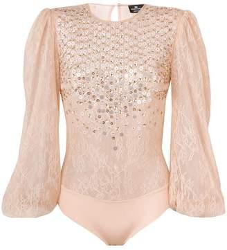 Elisabetta Franchi embellished lace bodie
