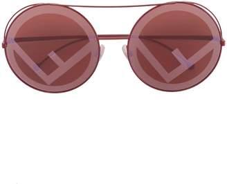 Fendi Eyewear red Run Away sunglasses