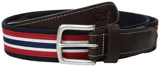 Vineyard Vines Prep Stripe Canvas Club Belt Men's Belts