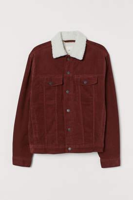 H&M Pile-lined Corduroy Jacket - Orange