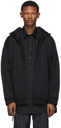 Valentino Black Hybrid Shirt Jacket