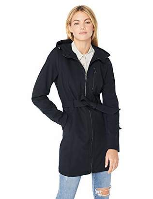 BCBGeneration Women's Soft Shell Center Front Zip Coat with Hood