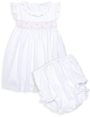 Kissy Kissy Baby's Two-Piece Hand-Smocked Pima Cotton Dress & Bloomers Set