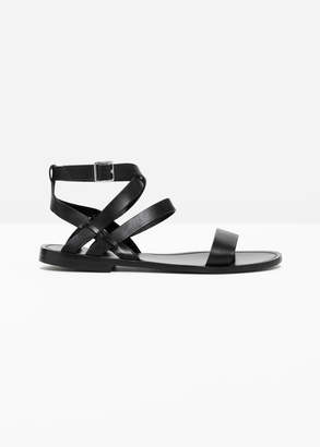 And other stories Raw Edge Leather sandal