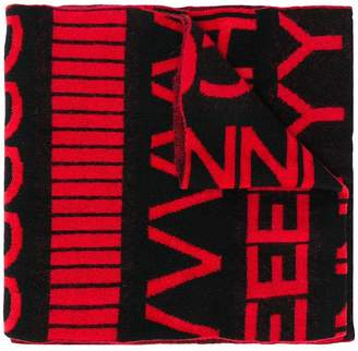 Givenchy repeating letters scarf
