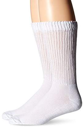 Dr. Scholl's Men's 2 Pack Non-Binding Diabetes and Circulatory Crew Socks
