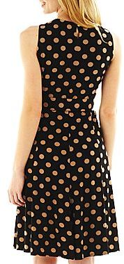 JCPenney Polka Dot Fit-and-Flare Dress