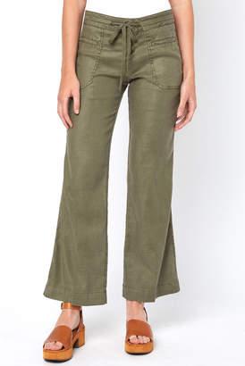 Level 99 Linen Button Front Wide Leg Pant