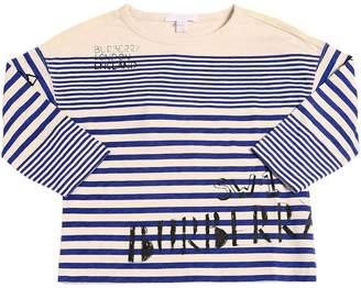 Burberry Striped Jersey Long Sleeve T-Shirt