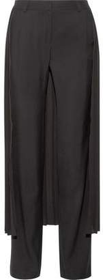 ADAM by Adam Lippes Layered Pleated Georgette And Crepe Wide-Leg Pants