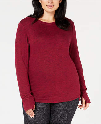 Cuddl Duds Plus Size Soft-Knit Long-Sleeve Top