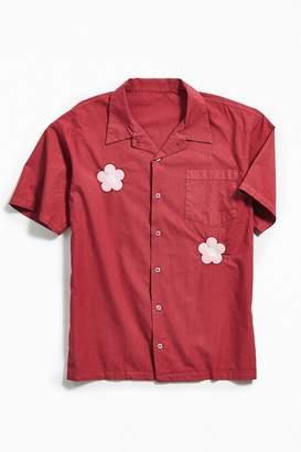 Tuesday Girlfriend Flower Short Sleeve Button-Down Shirt