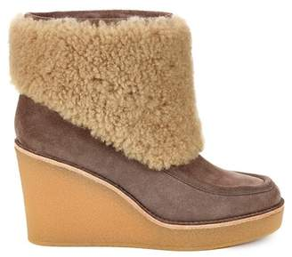 UGG Coldin Genuine Sheepskin Fur Suede Wedge Boot