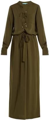 Melissa Odabash Megan lace-up maxi dress