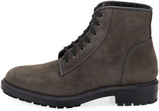 Aquatalia Shearling-Lined Suede Boot