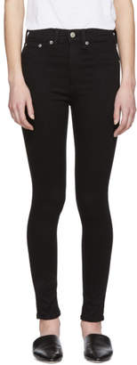 Rag & Bone Black High-Rise Ankle Skinny Jeans