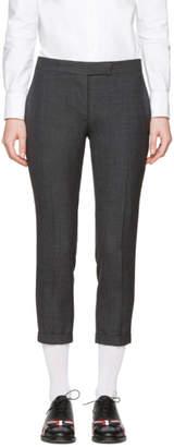 Thom Browne Grey Low-Rise Skinny Trousers