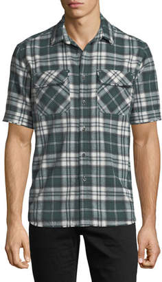 Ovadia & Sons Plaid Short-Sleeve Camp Shirt