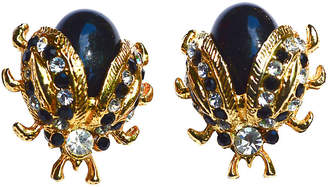 One Kings Lane Vintage Black & Gold Lady Bug Earrings - Sarara Vintage Couture