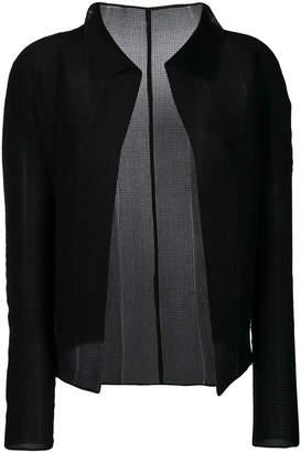 Issey Miyake collar cardigan