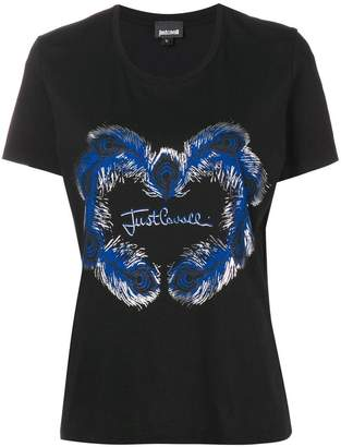 Just Cavalli feather logo T-shirt