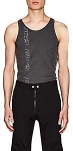 GmbH Men's Ali Logo-Print Ribbed Cotton Tank-Dark Gray