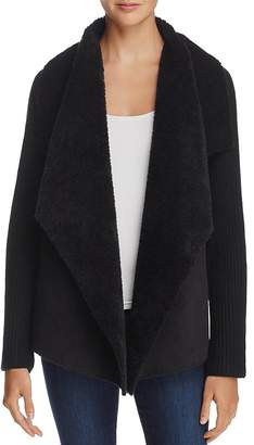 AQUA Faux Shearling-Front Cardigan - 100% Exclusive $118 thestylecure.com
