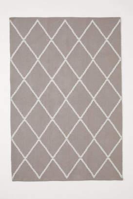H&M Jacquard-weave Cotton Rug - Brown