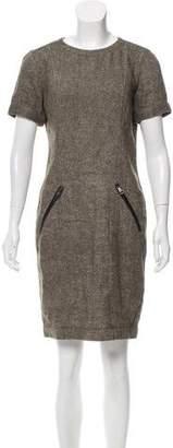 Burberry Linen-Blend Sheath Dress