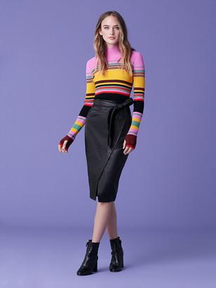 Diane von Furstenberg Grace Leather Skirt