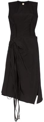 Marni Wrap skirt cotton midi dress