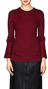 Proenza Schouler Women's Rib-Knit Silk-Blend Sweater-Wine